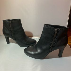 Gently worn (three times) leather booties